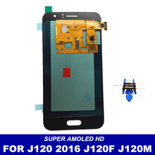 100% Working Well AMOLED LCD For Samsung Galaxy J120F J120M J120H J120 2016 Screen Display Touch Digitizer Replacement Parts