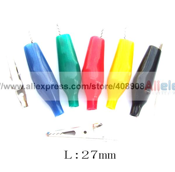 600pc 6 Colors Insulation Alligator Clip Clamp Power Cable Test Testing Probes<br><br>Aliexpress
