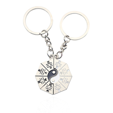 Trendy Tai Chi Yin Yang Key Chains For Couple Lovers Best Friends BBF Vintage Charm Specialty Of China Fine Keys Chain Drop Ship(China)