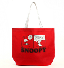 Fashion Snoopie Cartoon Dogs Canvas Bag Chinese Red Large-capacity Bag Women Portable bags 40*30*11CM Christmas Gifts brinquedos