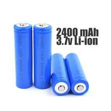 High quality 4PCS/LOT Original 18650 li ion Battery 2400mAh 18650 rechargeable Battery 3.7V li-ion Battery 18650 li-ion Battery