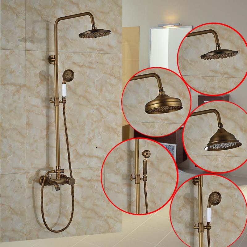 Bathroom 3 Function Shower Faucet Shower Set Mixer Taps Antique Brass 8 Inch Rain Shower Head Tub Mixer Faucet<br><br>Aliexpress