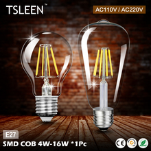 +Cheap+ Retro Old Edison E27 G45/ A60/ ST64 Globe Filament Light Bulb 4W 8W 12W 16W Lamp Lampada Decor AC220V/ 110v # TSLEEN