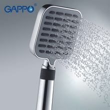 Gappo 1Pc Top Quality Three Ways Square hand shower heads bathroom accessoriess ABS in chrome Plated water saving shower headG08