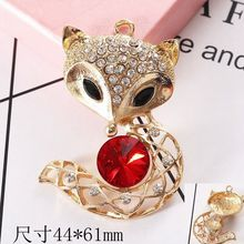 Dower Me Brand 2pcs 4 colors Charm fox style Phone Drilling Mobile Phone DIY Accessories Rhinestone Metal Mobile phone stickers(China)