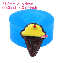 XYL198U 21.2mm Chocolate Sandwich Silicone Mold - Ice Cream Cone Cake Mold Fondant, Resin, Candle, Gum Paste, Soap, Clay Mold