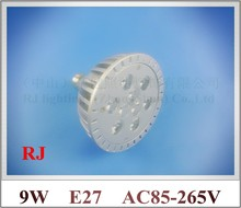 die casting aluminum LED spot light lamp spotlight bulb LED par light parlight E27 AC85-265V 9LED 9W 720lm 50pcs/lot(China)