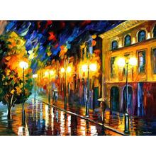 Landscape Modern paintings with Palette knife art oil on Canvas fascination of the night Handmade high quality