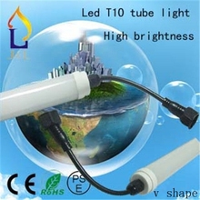T10 led tube light 48W/40W/30W/24W/20W smd2835 high brightness with waterproof connector 28lm/led 100pcs/lot