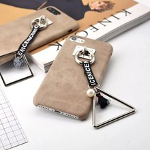 For Iphone 6S CASE New Fashion Luxury Ring Brown Leather Case For Iphone 6 6plus 6S 6Splus 7 7plus CASE Cover Free Shopping