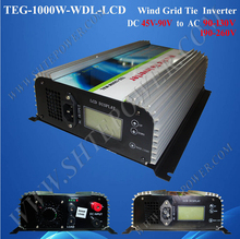 builted in brake wind system 220v 48v grid tie inverter 1000w with lcd(China)