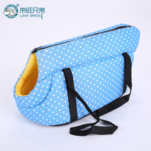 Dot Printed Dog Carrier Bag Cozy & Soft Puppy Pet Dog Travel Carrier Cat Shoulder Carry Bag Pet Handbag Pet Supplies(China)