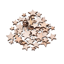 Wholesale 100Pcs Romatic Style Wood Star Chipboard Fashion Wooden Home Decorations DIY Christmas Party Scrapbooking High Quality(China)