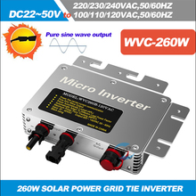 Free Shipping!!!260W Micro Grid Tied Inverter Input DC22V-50V Waterproof Solar Inverter with IP67,5 years warranty