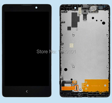 "Best Working 5.0"" LCD Display Touch Screen Digitizer Assembly With Frame For Nokia XL RM-1030 RM-1042 Replacement Part"