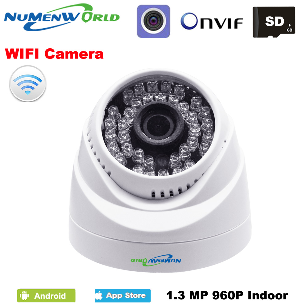 Wireless IP camera WIFI dome IP cam webcam CCTV security video camera 960P indoor home use support SD card PC mobile remote view<br>