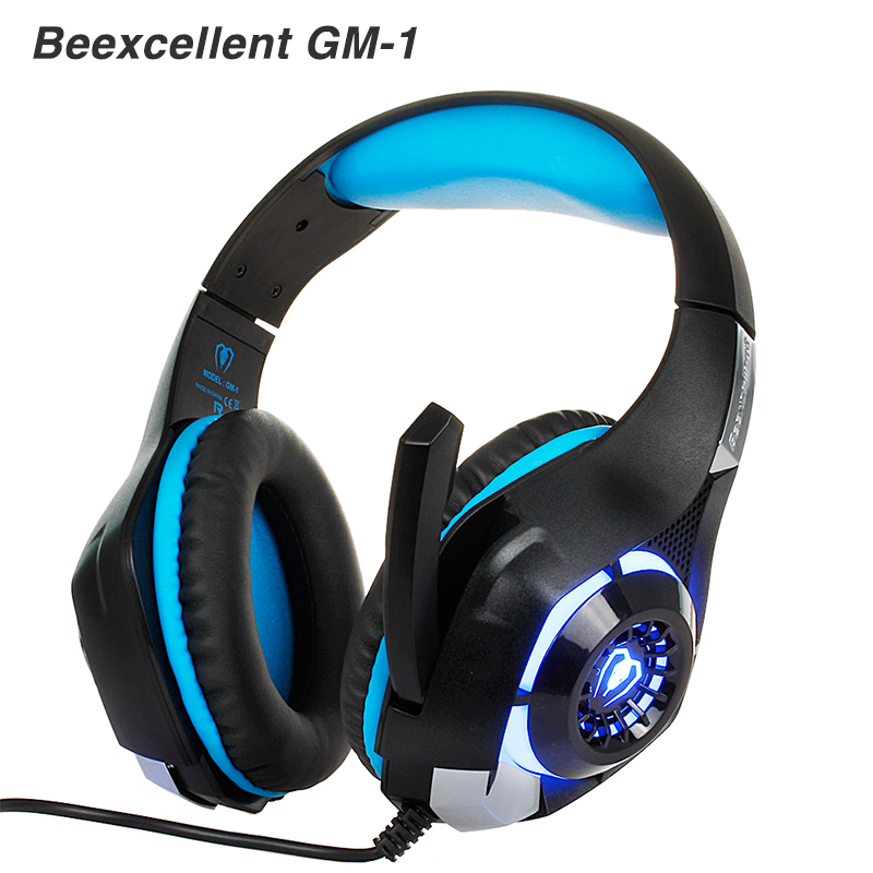beexcellent GM-1 PC Gaming gamer headset Headphones Headphone Wired stereo Bass with microphone LED for Computer pk xiaomi<br><br>Aliexpress