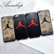 Luxury Brand Logo Jordan Sole All Protective Soft case for iPhone 6 6S Plus 7 7Plus 5s SE Hard Cover For iphone 6s 7 5s Case