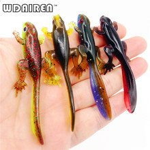 6pcs/lot Plastice Grubs 80mm 3.8g silicone bait Worms Fishing Lure Smell Attractive Fish Crab Fishing Bait Soft Bait FA-338