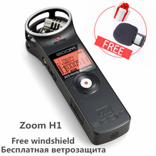 Original ZOOM H1 Handy Recorder Digital camera Audio Recorder Stereo Microphone for Interview SLR Recording Microphone Pen Handy