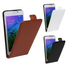 Luxury Genuine Real Leather Case Flip Cover Mobile Phone Accessories Bag Retro Vertical For Samsung GALAXY Alpha G850 PS