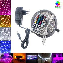 RiRi won SMD5050 RGB LED Strip Light led tape diode lamp Waterproof 60leds/m led flexible light controller DC 12V adapter set