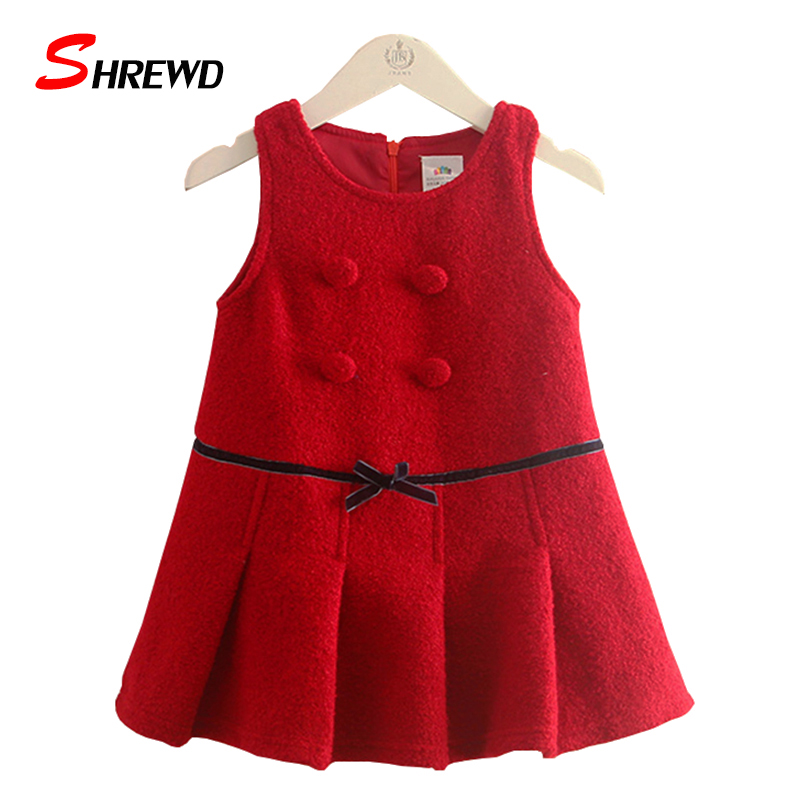 Brand Dress Girls 2017 New Winter Fashion Bow Solid Color Toddler Girl Dresses Sleeveless Simple Zipper Baby Girl Clothes 4433Z<br><br>Aliexpress