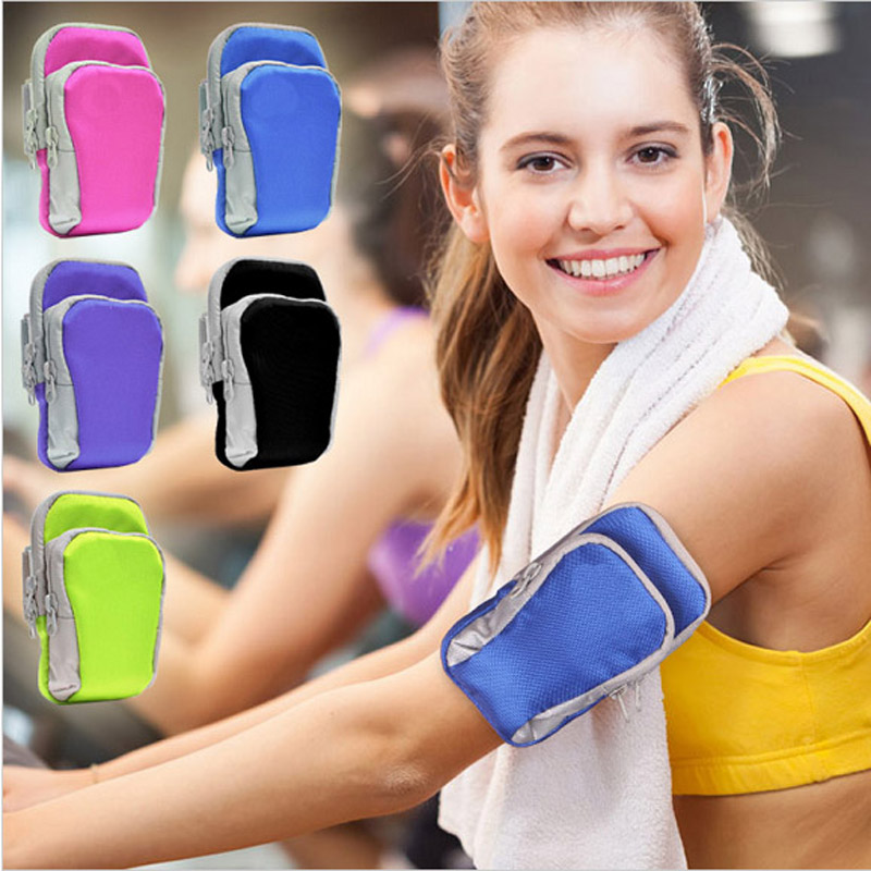 Outside Mobile Phone Armband Case on Hand Function Sport Holder for iPhone universal phone with Headphone Hole Profession Gym(China (Mainland))