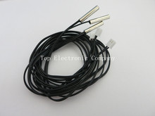 20pcs=1lot 1M High temperature NTC temperature sensor 10K 1% accuracy temperature sensing probe MF58
