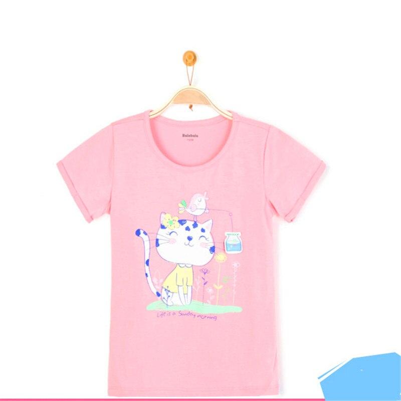 Kid Summer Cartoon Tshirt Baby Girl Blusa Infantil Feminina Clothing For Little Girls Sleeves Child Tshirts Girl Kids 50H043 <br>
