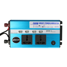 500W Car Power Inverter DC 12V to AC 110V 60Hz with 4 USB Ports / 2 AC Outlets Car Charger for Mobile Phone Cigarette Lighter