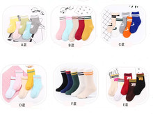 5 Pairs Breathable Cotton Children Kids Socks Colors Boy Girl Sport Socks S M L High Quality