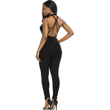 Buy Mishenko Sexy Halter Jumpsuit 2018 Solid Color Backless Rompers Sleeveless Jumpsuits Body Lace Skinny Rompers Women Overalls