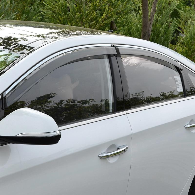 Car rain shield window rain eyebrow modified injection molding rain transparent flap for HYUNDAI Sonata 2016<br><br>Aliexpress