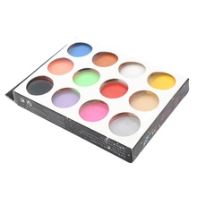 12pcs Nail Acrylic Powder 12 Colors Shiny Flour Set Nail 3D 3D Decoration Polymer Manicure Tips Decoration Builders Powder(China)