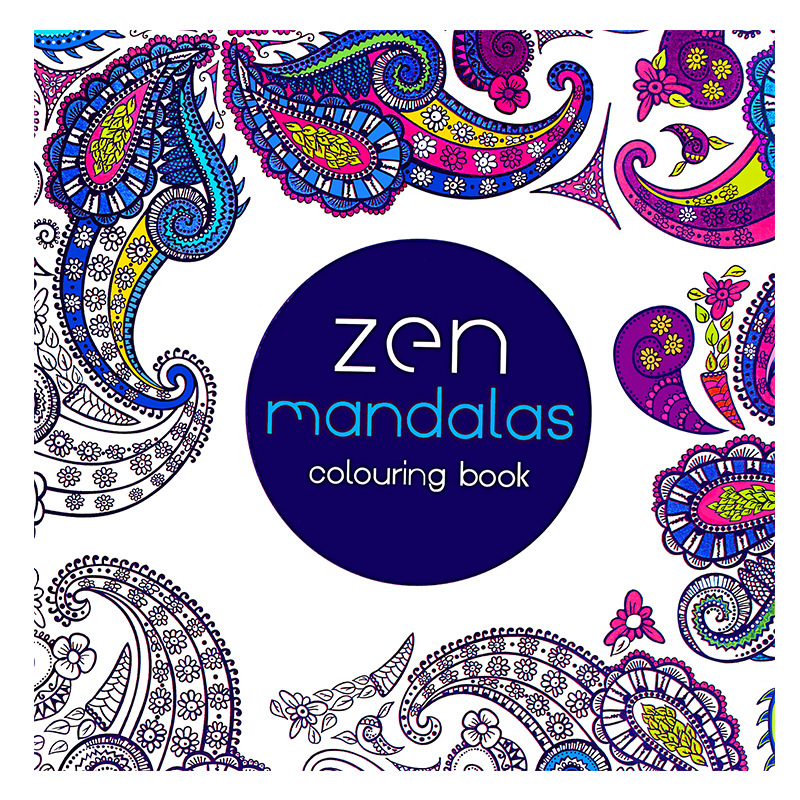 2016 New arrival Relieve Stress For Adult Painting Drawing Book 24 Pages Mandalas Kill Time colouring books(China)