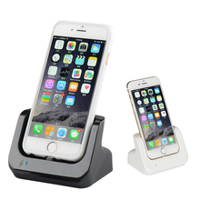 Sync Data USB Charger Dock Stand Station Cradle Charging Dock Station For iphone SE 5 5S 5C 6 6S Plus 7 8 with USB cable(China)