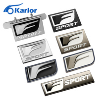 F Sport Car Logo Stickers 3D Metal Emblem Refitting Badge Grille Car Styling Auto Decoration accessories For Lexus RX ES IS