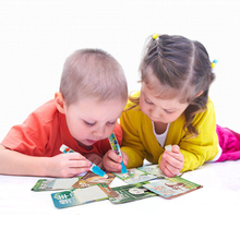 18Pcs Water Drawing Card Coloring Book Painting Writing Board Doodle Mat 2 Magic Pen Educational DIY Toys For Children Kids Gift