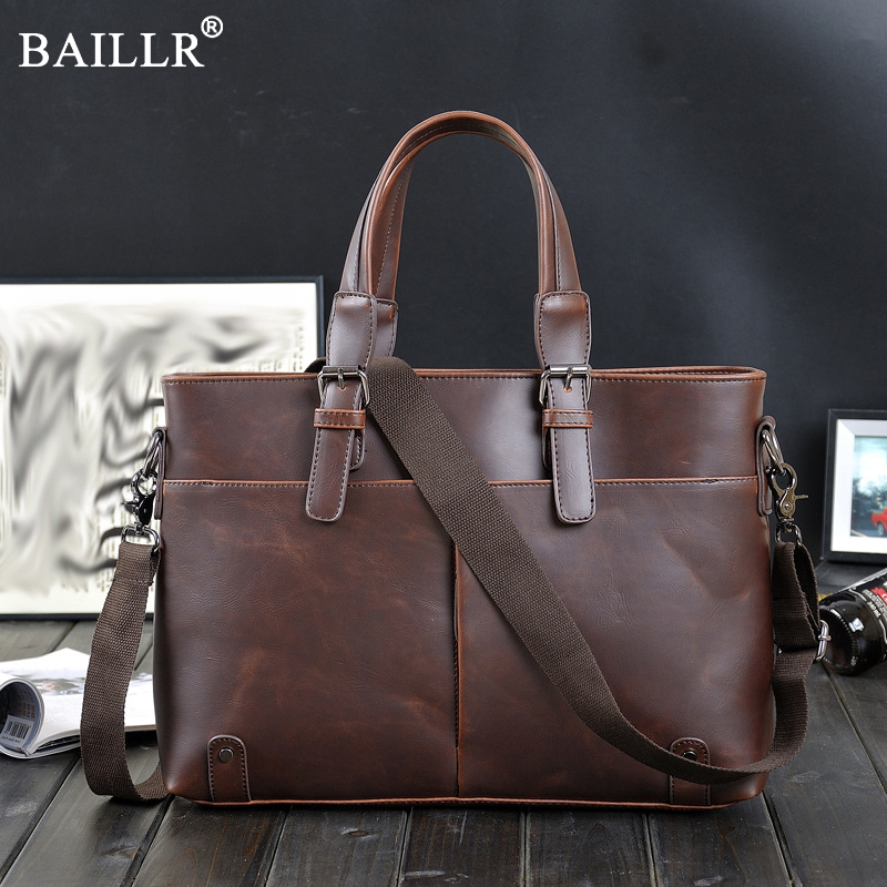 2018 New Casual Men Briefcase PU Leather Mens Messenger Laptop Bag Business Briefcase Male Crossbody Bag Travel Bags Wholesale<br>