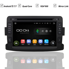 Car Android 5.1.1 DVD GPS Player For Renault Duster Stereo 1024*600+Wifi/3G+Radio+ Mirror Link+Canbus+DVR+Google Market+Free Map