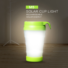 Zacco 2 In 1 Small Portable Solar Cup Light Recreation Led Outdoor Camp Lamp Led Power Led Family Emergency Lighting