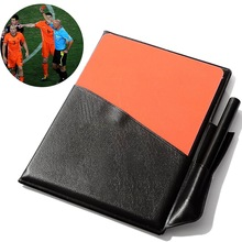 New Professional Football Soccer Referee Wallet Red Card Yellow Card Wallet Pencil Notebook(China)