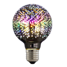 5W LED 3D Decoration Light Bulbs 85V-265V Novelty RGB Lamp G80 Filament Fireworks Ball Light for Home Holiday(China)