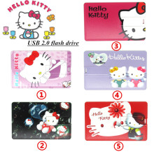 all kinds of hello kitty model credit card usb flash drive disk memory stick pendrive Pen drive girl gift 4GB 8GB 16GB 32GB