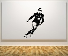 Wayne Rooney Famous Football Player Wall Decal  Cool Boys Bedroom Decoration Accessories Vinyl Interior Wall Stickers DIYSYY408