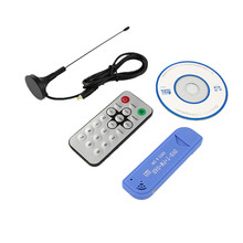 Usb 2.0 dvb-t digital tv stick tuner receiver DAB+FM+SDR RTL2832U+R820T2 tv tuner usb DVB T Satellite receiver antenna+dongle(China)