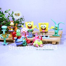 small bob sponge doll pink Patrick Star yellow sponge bob and square pants toy figure for boy, birthday gift