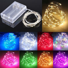 Free shipping with tracking 5pcs/lot 3AA LED battery box light 3M 30LED for Christmas Wedding Party Decoration Lights garland(China)