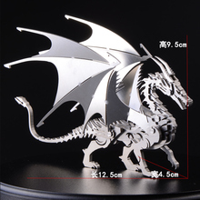 3D Detachable Dragon DIY Metal Birthday Gift For Children Boys Assembly Model Stainless Steel Models Toys 12.5*9.5*4.5cm(China)
